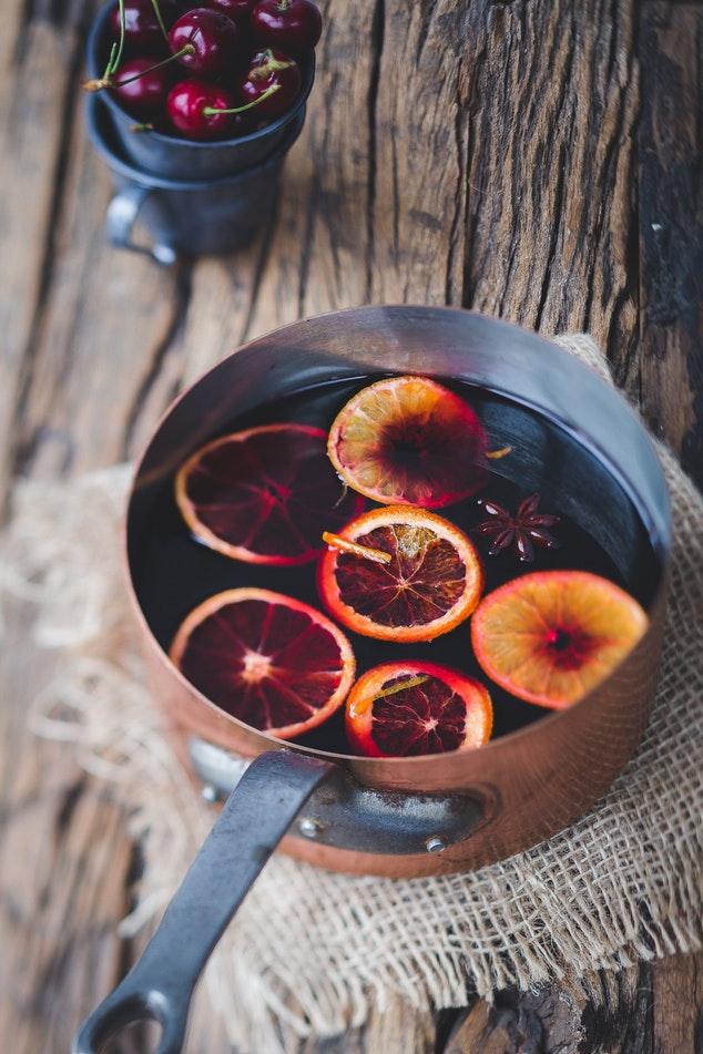 Grzane wino w pomarańczą